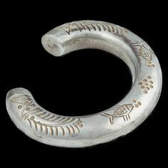 India | Tribal Silver Bracelet fro  Rajasthan | Circa Early 20th Century | 360£ ~ pair is available