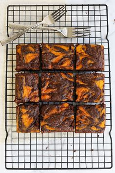 Marbled Pumpkin Brownies