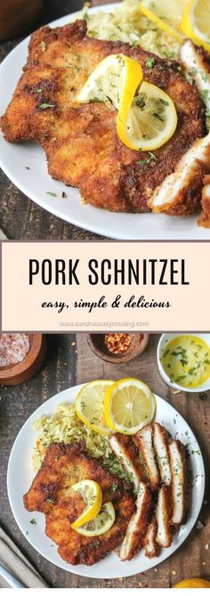 This Easy Pork Chop Recipes is delicious My family love it Pork Chop Pork Chops Pork Chop Recipes Pork Chop Recipes Baked Pork Chop Recipes Crockpot Pork Chop marin. Schnitzel Recipes, Pork Schnitzel, German Schnitzel, Pork Cutlet Recipes, Easy Pork Chop Recipes, Healthy Diet Recipes, Cubed Pork Recipes, Easy Cooking, Cooking Recipes