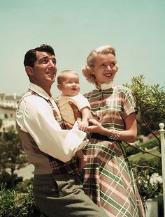 Dean & Jeanne Martin with their son Dean Paul, 1952