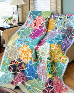 Starlit blocks quilt.