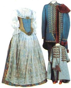 Traditional hungarian woman, man and child wear (nobility) Wonderful for a costume to make! Vintage Clothing, Vintage Dresses, Vintage Outfits, Vintage Fashion, Historical Costume, Historical Clothing, 17th Century Fashion, Court Dresses, Lolita