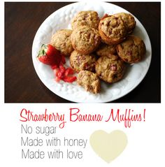 November Grey: {Healthy} Strawberry Banana Muffins