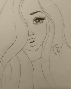 A Simple And Pretty Drawing Pretty Woman Pinterest Drawings