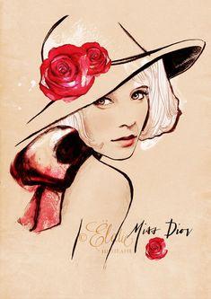 Las ilustraciones de moda de Ëlodie Nadreau