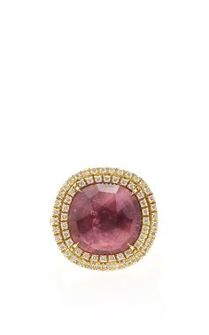 Pink tourmaline Jaipur Sunset Ring with Diamonds by Marco Bicego for Preorder on Moda Operandi
