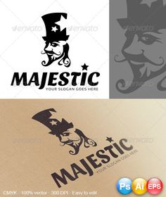 Here is a Majestic Logo for you to use to your needs. A nice logo for any kind of company.   CMYK , 100 vector, 300DPI(print read