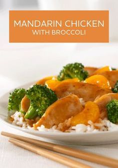 Mandarin Chicken with Broccoli � Even the pickiest of eaters will love this dinner recipe!