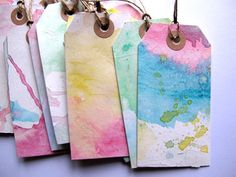Watercolor tags! gah these are pretty