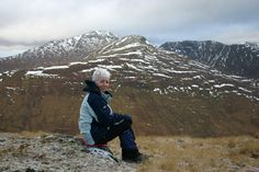Carol on Gleouraich, near Loch Quoich, having a seat en route to another Munro - Spidean Mialach. Scottish Mountains, Cairngorms National Park, B & B, Wonderful Places, Climbing, Scotland, Trail, National Parks, Walking