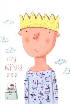 my KING  postcard by behappynow on Etsy,
