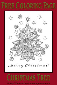 Christmas Tree Coloring Page - Beautiful - Free Printable.                                                                                                                                                                                 More