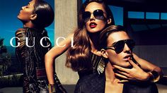 Honing in on the fine details, Nikola Jovanovic, Gen Huismans, Joan Smalls and Karmen Pedaru get a little closer for Gucci's spring 2011 accessories campaign as… Ad Photography, Advertising Photography, Fashion Photography, Gucci Ad, Tom Ford Gucci, Summer Sunglasses, Gucci Sunglasses, Karmen Pedaru, Gucci Eyewear
