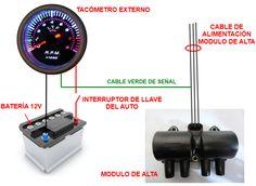 Diagrama de instalación de un tacómetro externo en tu automóvil