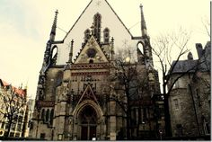 Thomaskirche. JS Bach was music minister here. We also sang here. Leipzig, Germany http://newleafeats.com/?p=2281