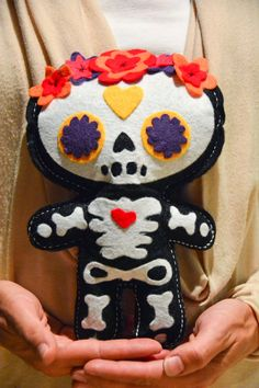 DIY Day of the Dead Doll made with Cricut Explore -- Aesthetic Nest. #DesignSpaceStar Round 4