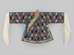 Non-Western Historical Fashion - Woman's Theatrical Jacket Qing Dynasty 19th...