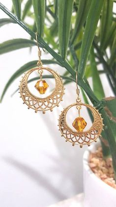 Check out this item in my Etsy shop https://www.etsy.com/au/listing/551659791/gold-drop-earrings-gold-filigree