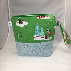 Zippered Knitting Crochet Craft Project Bag by partyof5crafts on Etsy