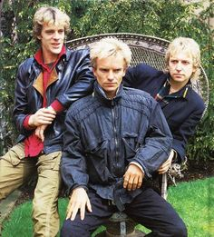 """The Police (1983) - Promo pic for the release of their fifth and most successful album """"Synchronicity""""."""