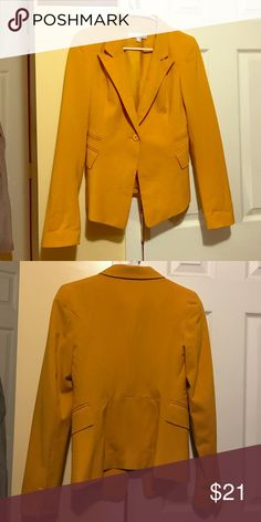 Size 0 New York &Co mustard color blazer Size 0 New York &Co mustard color blazer New York & Company Jackets & Coats Blazers