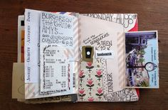 besottment by paper relics: Filled Souvenir Journal - Seattle 2011
