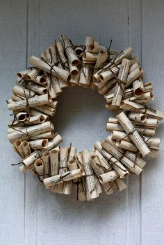 Book Wreath. Again, would need to buy the wreath form.