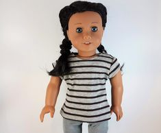 Les Brown, Brown And Grey, Gray, 18 Inch Boy Doll, Doll Closet, Fun Summer Activities, Summer Tshirts, Casual Tops, Knitted Fabric