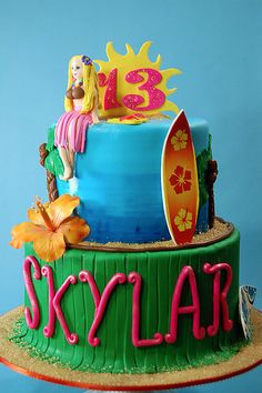 Aloha Birthday Cake At H Bake Shop New York NY Birthdaycake Cakedecorating