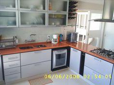 cozinha em silestone laranja