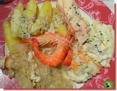 Choucroute aux poissons et sa sauce