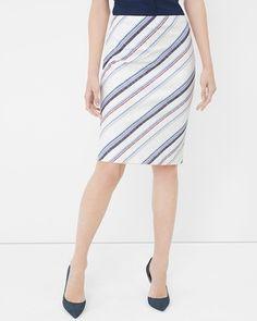 White House | Black Market Stripe Pencil Skirt