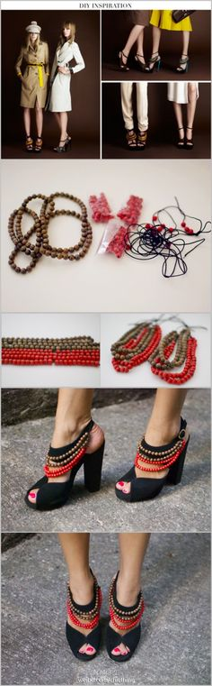 Shoes spring  beads accessories  / need to do it!