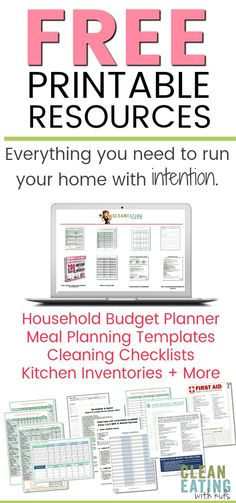 Free CEWK Resource Library. Household Budget Worksheet, Meal Planning Templates, Planners, Checklists and More. Everything you need to run your home effectively.