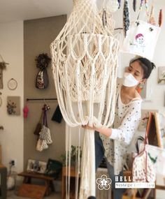 Items similar to Hand sewn Red lace lamp shade with clear ch… – Lighting Art Deco Chandelier, Lantern Chandelier, Dream Catcher Craft, Macrame Design, Macrame Projects, Macrame Tutorial, Macrame Patterns, Macrame Knots, Boho Diy