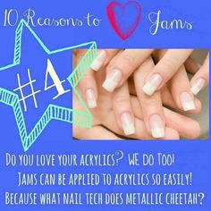 #4 in the Top 10 Reasons To Love Jamberry Nails #acrylics #gelnails #jamberry #jamberrynails #nailwraps #cutenails #manicure #jamicure #top10reasons www.mznailwraps.jamberrynails.net