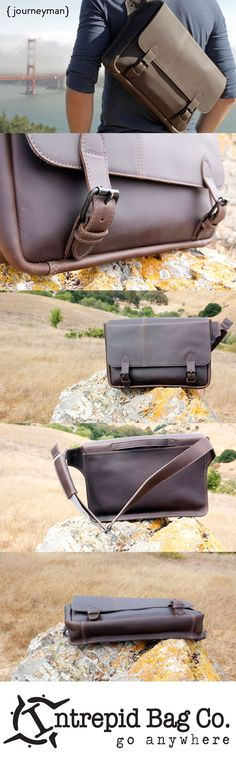The Journeyman Leather Messenger Bag- your trusty sidekick on any adventure! Crossbody men's leather laptop messenger bag that… My Bags, Purses And Bags, Fashion Bags, Mens Fashion, Laptop Messenger Bags, Leather Men, Leather Bags, Leather Accessories, Shoes