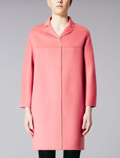 Max Mara NILLA pink: Pure wool coat. Find your outfit on the Official Max Mara Website and discover all that is new in ready-to-wear.