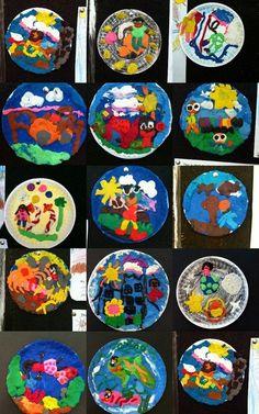 Plasticine Pictures inspired by Barbara Reid 3rd Grade Art, Kindergarten Crafts, Art N Craft, Art Classroom, Art Studies, Art Club, Art Plastique, Elementary Art, Teaching Art