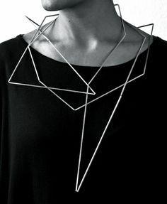 Geometric Jewellery - sculptural necklace; contemporary jewelry design // Ute Decker