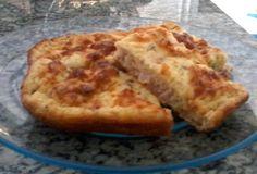 Fase Cruzeiro PP Torta de presunto e queijo 2 ovos 2 Colher (es) de sopa de requeijão 3 Colher (es) de sopa de leite em pó desnatado 4 Colher (es) de sopa de leite líquido desnatado 2 Colher (es) de sopa de PIS 100 Grama (s) de muçarela light 100 Grama (s) de presunto magro Sal a gosto 1 Colher (es) de chá de fermento Orégano 1 Colher (es) de sopa de farelo de aveia  Forno preaquecido a 180º C e asse por 20 minutos, aproximadamente, ou até dourar a massa.