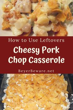 grilled pork chops Cheesy pork chop casserole is the perfect way to use leftover pork chops and is a great recipe to sneak extra veggies and beans in your kids diets. Leftover Pork Tenderloin, Pork Chop Casserole, Pork Casserole Recipes, Casserole Dishes, Barbecue Pork Ribs, Grilled Pork Chops, Grilled Meat, Leftovers Recipes, Dinner Recipes