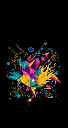 New Ideas Wall Paper Phone Geometric Abstract Ps Wallpaper, Graffiti Wallpaper, Colorful Wallpaper, Wallpaper Backgrounds, Dope Wallpapers, Wall Paper Phone, Minimalist Wallpaper, Designer Wallpaper, Graphic Design Inspiration