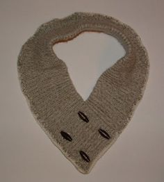 My Recycled Bags #upcycled a sweater into a #crochet-edged cowl.