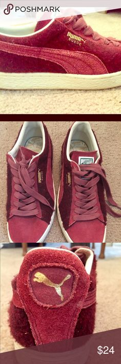 new product 36892 f7795 Men s suede Puma shoes Puma shoes. Red suede. Very stylish. Worn a few