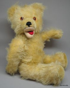 Baki Germany #Teddy Bear Blonde Mohair Plush Jointed 33cm 13in c1950s 60s no ID #Baki AllOccasion