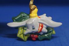 "Dumbo w/ Holly 4"" Ceramic Christmas Ornament Disney Parks Retired #DisneyParksExclusive #ChristmasOrnament"