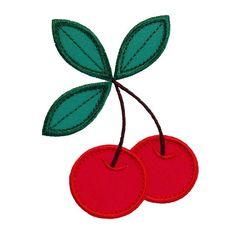 Cherries Machine Embroidery Designs Applique Pattern. 4 sizes. Etsy