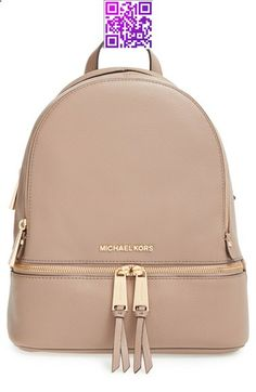Handbags & Wallets - MICHAEL Michael Kors 'Small Rhea' Leather Backpack available at - How should we combine handbags and wallets? Mk Handbags, Handbags Michael Kors, Purses And Handbags, Michael Kors Bag, Designer Handbags, Cheap Handbags, Backpack Bags, Leather Backpack, Small Backpack
