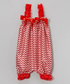 Another great find on #zulily! Red Zigzag Bubble Romper - Infant, Toddler & Girls by Wenchoice #zulilyfinds